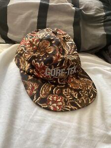 FW18 Supreme GORE-TEX 6-panel flower print hat waterproof cap 3M reflective logo