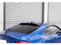Rear Roof Spoiler Acrylic Smoke Window Visor Guard For Toyota GT86 / BRZ 12-19