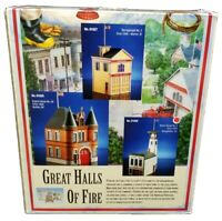 Lefton Great Halls Of Fire Alpine House No.2 Georgetown CO Firehouse New in Box