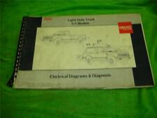 1989 Gmc S/T Truck Electrical Diagrams Service Manual