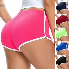 Women's Stretch Mid Rise Sporting Mini Shorts Fitness Running Gym Yoga Hot Pants
