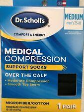 "Dr"" Scholl's Medical Compression Support Socks Over The Calf Men"