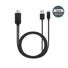 O46 180cm Mhl 5pin Micro USB To HDMI Cable Adapter Samsung HTC Huawei Xiaomi TV