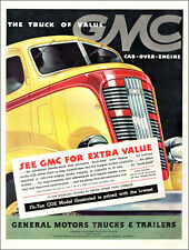 1937 vintage truck AD GMC Yellow 11/2 ton Cab over Engine Model, Nice!  040619