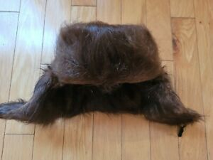 EUC Authentic real fur Vintage Russian Nutria Ushanka Hat