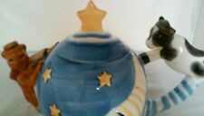 Hey Diddle Diddle The Cat And Fiddle Cow Jumped Over The Moon Ceramic Teapot