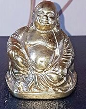 Chinese Bronze & dorati seduti Happy Buddha Statue