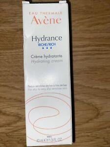 Avene Hydrance Rich Creme Hydrating Cream 40ml New 05/23