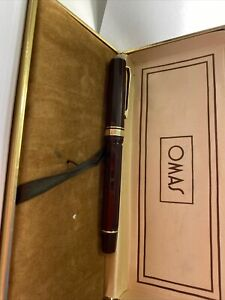 Vintage OMAS Extra Fountain Pen 555F 14k Gold Fine Semi-Flex Nib