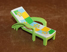 Playmobil vie quotidienne chaise longue verte manque les roues 4864 5964