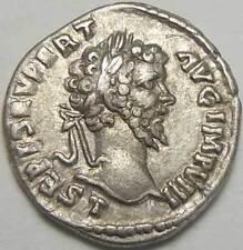 Septimius Severus Denarius Pax Laodicea Mint 196 -197AD