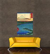Poster Print Pintura Paisaje Hiroshige Monte Fuji Japonesa Clásica seb860