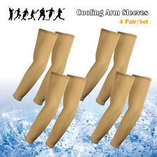 4PCS Sun UV Cooling Arm Sleeves for Cycling Basketball Football Running Sports