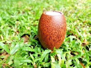 Handmade Wooden Modern Solid Coconut Stem Candle Holder ECO-FRIENDLY & Natural
