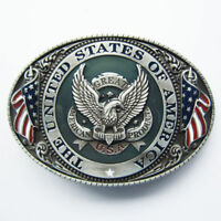 U.S.A. American Flag Eagle Metal Fashion Belt Buckle