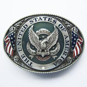 U.S.A. American Flag Eagle Metal Fashion Belt Buckle