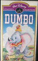 Dumbo Walt Disney Classics Collection VHS, 1998