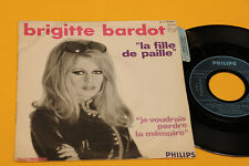 """BRIGITTE BARDOT 7"""" LA FILLE DE PAILLE 1°ST ORIG FRANCE '60 EX+ CON STIKER !!!!!!"""