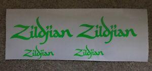 4 x  Zildjian Drum logo Sticker/Decal..... NEW