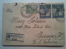 JUGOSLAVIA 1940 WWII Multifranked Registered Cover addressed to Chicago