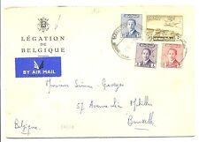 IRAK IRAQ 1957   CV   CONSULATE OF BELGIUM    F/VF