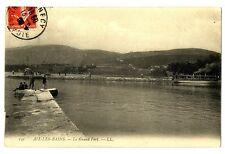 CPA 73 Aix-les-Bains le Grand port animé bateau
