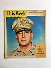 Vintage This Week Magazine Herald Tribune September 30, 1945 General MacArthur