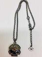 Harley-Davidson® Women's Skull CZ Bling Necklace