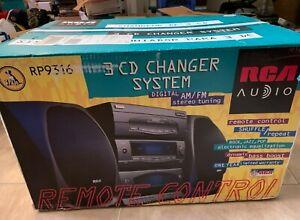 RCA RP9316 3-Disk CD Changer Bookshelf Stereo Digital System AM FM NEW SEALED