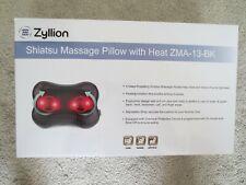 Zyllion Zma-13-Bk Shiatsu Massage Pillow with Heat