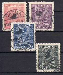 YUGOSLAVIA , 1918 , CROATIAN ISSUE , FULL SET , USED , CERTIFIED !