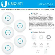 Ubiquiti UAP-AC-PRO-5 UniFi AP 5-Pack (PoE Not Included) International Version