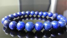 Genuine LAPIS LAZULI bead bracelet for MEN or Women Stretch AAA 8mm Blue 7.5""