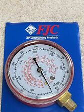 Gauge FJC, R134a, R22, R12, R502 Gauge HIGH-SIDE 0 to 500 PSI #6127