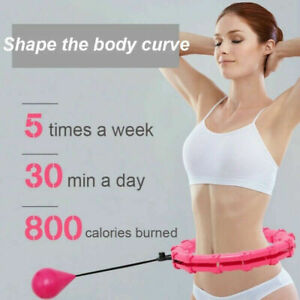 24 Knots Fitness Smart Hula Hoop Detachable Hoops Lose Weight Sports UK-2021