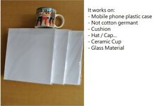 5 Sheets A4 Iron Heat Transfer Paper Dye Sublimation - DIY Mug Cup Polyester Tee