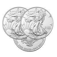 Lot of 3 Silver 2020 American Eagle 1 oz. Coins .999 fine silver US Eagles 1oz