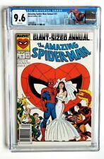 AMAZING SPIDER-MAN ANNUAL #21 CGC 9.6 *NEWSSTAND* MARVEL 1987 *W/ CUSTOM LABEL*