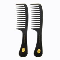2 Pcs Hairstyle Wide Tooth Plastic Curly Hair Care Handgrip Comb I8J4