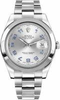 Rolex Datejust II 41 Silver Dial Oystersteel Luxury Men's Watch 116300