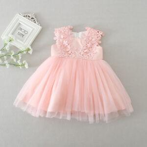 Newborn Baby Girls Christening/Birthday/Prom/Wedding Tutu Party Princess Dress 5