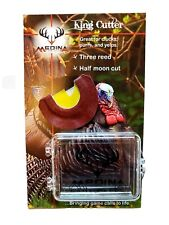 Medina Game Calls King Cutter Three Reed Half Moon cut Turkey Mouth Call w/case!