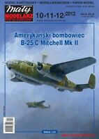 "PAPER-CARD MODEL KIT-MALY MODELARZ -Bomber B-25C ""Mitchell"" MkII"