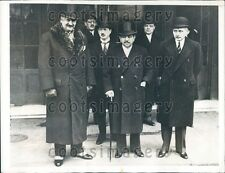 1935 France Premier Pierre Flandin With French Officials in London Press Photo