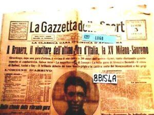 GAZZETTA DELLO SPORT LUN 3 4 1922 TARGA FLORIO CALCIO BOXE           (8BIS4A)