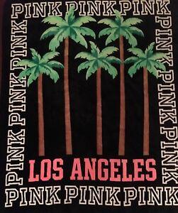 "VICTORIA'S SECRET PINK LOS ANGELES LA Ultra Soft Sherpa Blanket 50""Wx60""L RTIRED"