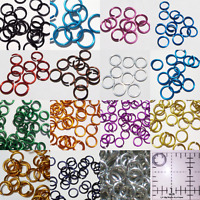 3/8 16g Anodized Aluminum JUMP RINGS 100 SAW CUT Chainmail chain mail