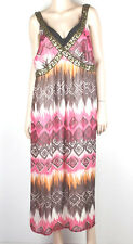 AUTOGRAPH Plus Size Aztec Print Maxi Sequinned Dress Size 20  #1828