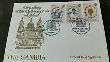 The Gambia 1981 Royal Wedding (Charles & Diana) set on official FDC