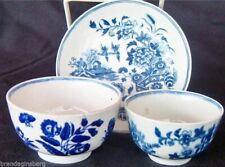 Worcester Dr Wall Lot Teacup Bowls Saucer Antique 18C English 1755 - 83 (3694)